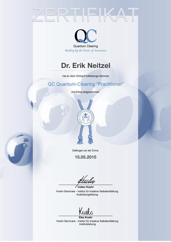 Zertifikat Quantum Clearing
