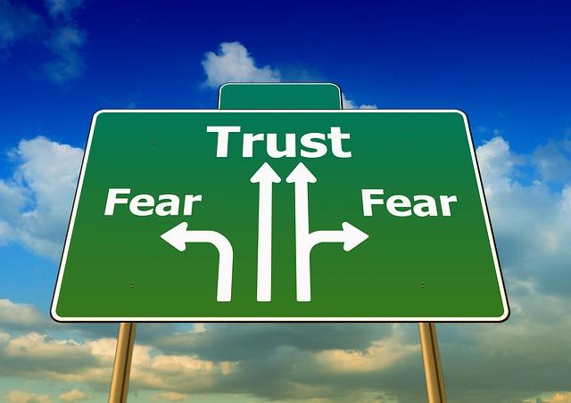Angst und Vertrauen (Straßenschild)
